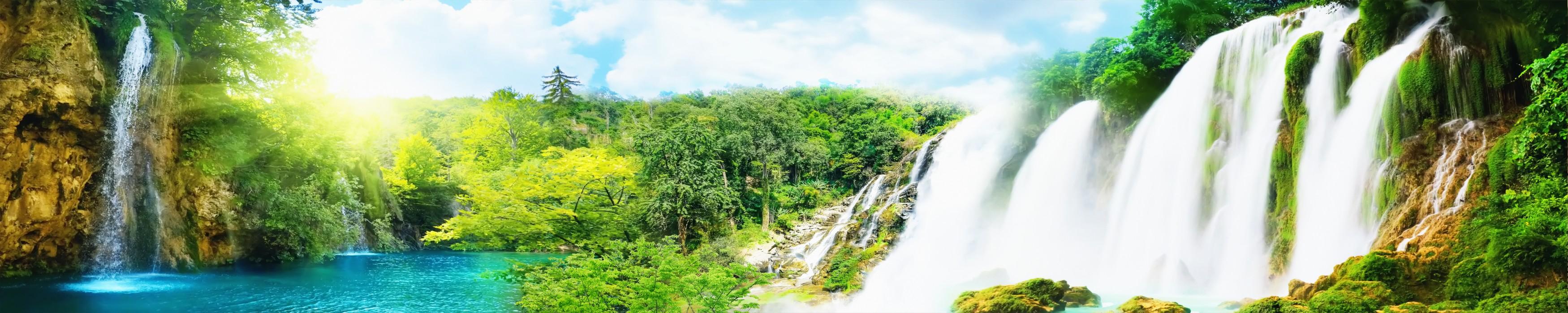 Водопады панорамы картинки